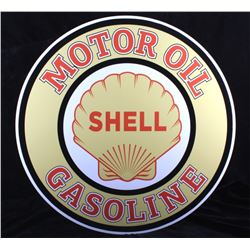 Shell Motor Oil Gasoline Advertising Sign