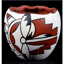 Jemez Pueblo Signed & Hand Painted Pottery Jar