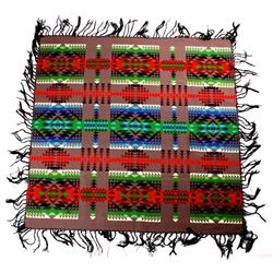 Pendleton Wool Blanket With Black Fringe