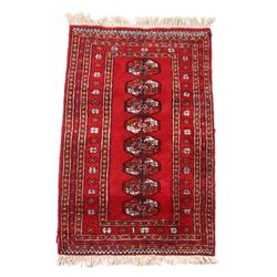Early 1900's Bokhara Afghan Wool Rug