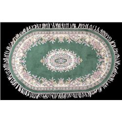 Persian Center Medallion Sculpted Wool Rug