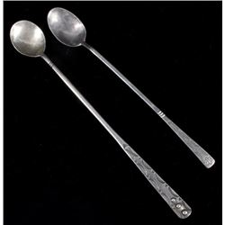 Pair of Navajo Sterling Silver Tea Spoons