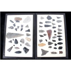 Collection of Native American Arrowheads