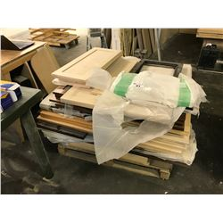 PALLET OF ASSORTED CABINET DOORS AND PARTS