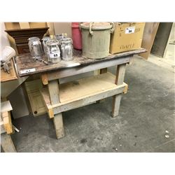 PAIR OF WOOD WORK TABLES