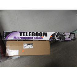 TELEBOOM MICROPHONE STAND & PYLE MELODICA KEYBOARD HARMONICA