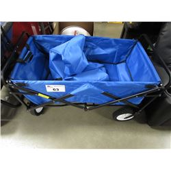 BLUE FOLDABLE WAGON