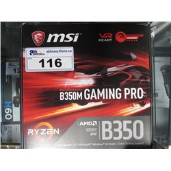 MSI B350 GAMING PRO RYZEN AMD AM4 SOCKET MOTHERBOARD