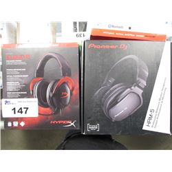 PIONEER DJ HRM-5 PRO REFERENCE MONITOR HEADPHONES & HYPERX CLOUD 2 GAMING HEADSET