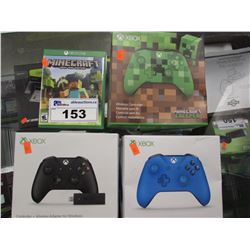 3 XBOX ONE WIRELESS CONTROLLERS & MINECRAFT GAME