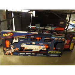 NERF REGULATOR MODULUS GUN, NERF RIVAL PHANTOM CORPS GUN & TRIPLE SHOT GUN