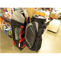 BAGBOY REVOLVER GOLF BAG & OGIO RIG 9800 TRAVEL BAG