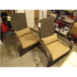 PAIR OF PATIOFLARE OUTDOOR PATIO CHAIRS