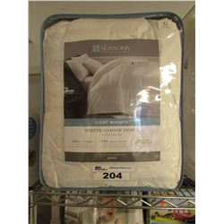 THE SEASONS LIGHT WARMTH WHITE GOOSE DOWN COMFORTER - KING SIZE