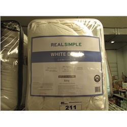 REAL SIMPLE WHITE DOWN COMFORTER