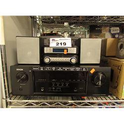 DENON AVR-S530BT A/V RECEIVER & STEREO ALARM CLOCK