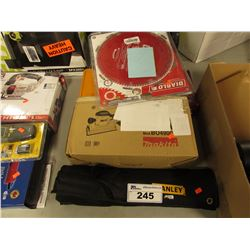 MAKITA SANDER, STANLEY WRENCH SET, DIABLO SAW BLADE & MORE