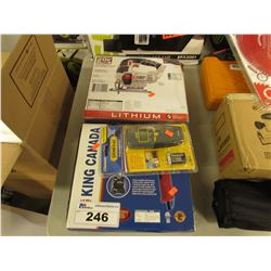 KING CANADA HEAT GUN, GENERAL MOISTURE METER & PORTER CABLE JIG SAW