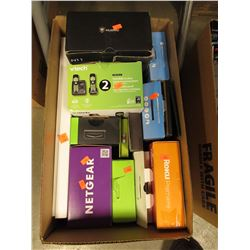 BOX OF ASSORTED ELECTRONICS, STREAMING STICKS & MORE