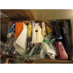 BOX OF ASSORTED HOUSEHOLD/PHONE CASES