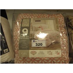KING SIZE ROSE GARDEN ALL-IN-ONE REVERSIBLE SET