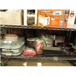 2 CUPCAKE CARRIERS, VARIOUS ASSORTED BAKING TRAYS, ETC