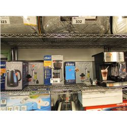 OSTER ELECTRIC KETTLE, OSTER AUTOMATIC BURR MILL, OSTER HAND BLENDERS, OSTER PRIMA LATTE MACHINE