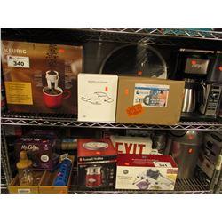 KEURIG COFFEE MACHINE, COFFE PODS, PROPELLER GUARD FOR MAVIC, NINJA COFFEE BREW MACHINE, LAWN DICE,