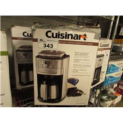2 CUISINART BURR GRIND & BREW THERMAL 12-CUP COFFEE MAKERS