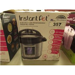 INSTANT POT 6 QUART 10-IN-1 MULTI USE PROGRAMMABLE PRESSURE COOKER