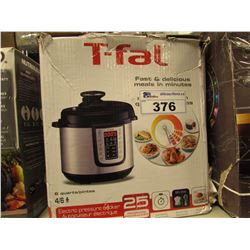 T-FAL 6 QUART ELECTRIC PRESSURE COOKER