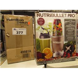 NUTRIBULLET PRO 900 SERIES BLENDER & HAMILTON BEACH SINGLE-SERVE COFFEEMAKER