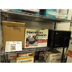 HAMILTON BEACH COFFEE MAKER, HAMILTON BEACH MEAT SLICER, FOOD DEHYDRATOR