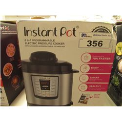 INSTANT POT 6 QUART 6-IN-1 MULTI USE PROGRAMMABLE PRESSURE COOKER