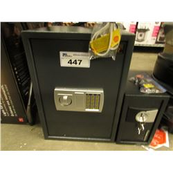 2 ASSORTED SAFES