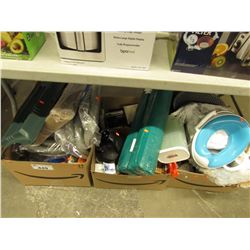 3 BOXES OF ASSORTED HOSES, HOUSEHOLD ITEMS, BABY SUPPLY, ETC