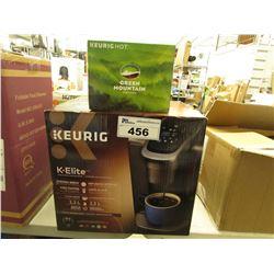 KEURIG K-ELITE COFFEE MAKER & GREEN MOUNTAIN COFFEE PODS