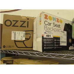 ZOHZO CAR SEAT BACKPACK & OZZI BOOSTER SEAT