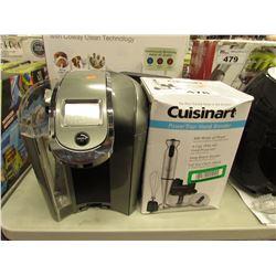 CUISINART POWER TRIO HAND BLENDER & KEURIG COFFEE POD SYSTEM