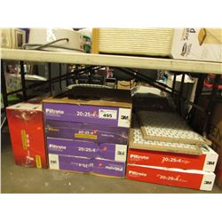 LARGE LOT OF ASSORTED FURNACE FILTERS