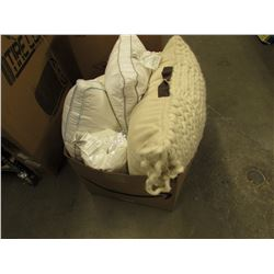 BOX OF ASSORTED PILLOWS