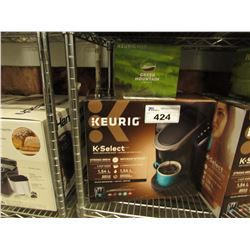KEURIG K-SELECT STRONG BREW MACHINE & GREEN MOUNTAIN PODS