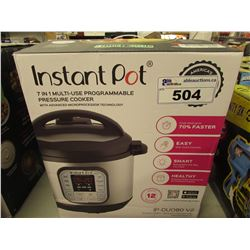 INSTANT POT 7-IN-1 MULTI USE PROGRAMMABLE 8 QUART PRESSURE COOKER