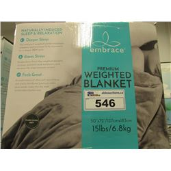EMBRACE 15LB PREMIUM WEIGHTED BLANKET