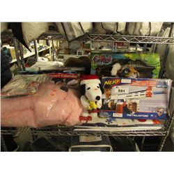 VTECH ADVENT CALENDAR, NERF RETALIATOR GUN, PLUSH ANIMALS TOYS, ETC