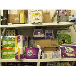 LARGE LOT OF ASSORTED KLEENEX & PAPER TOWEL