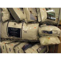 4 ASSORTED STANDARD QUEEN SIZE PILLOWS