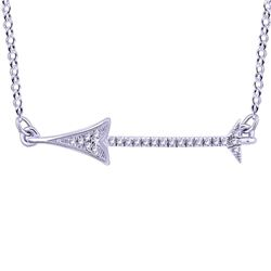 0.05 CTW Diamond Necklace 14K White Gold - REF-14R4K