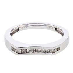0.25 CTW Diamond Band Ring 14K White Gold - REF-37M5F