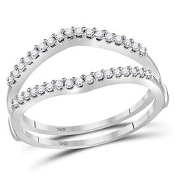 0.25 CTW Diamond Ring 14KT White Gold - REF-30X2Y